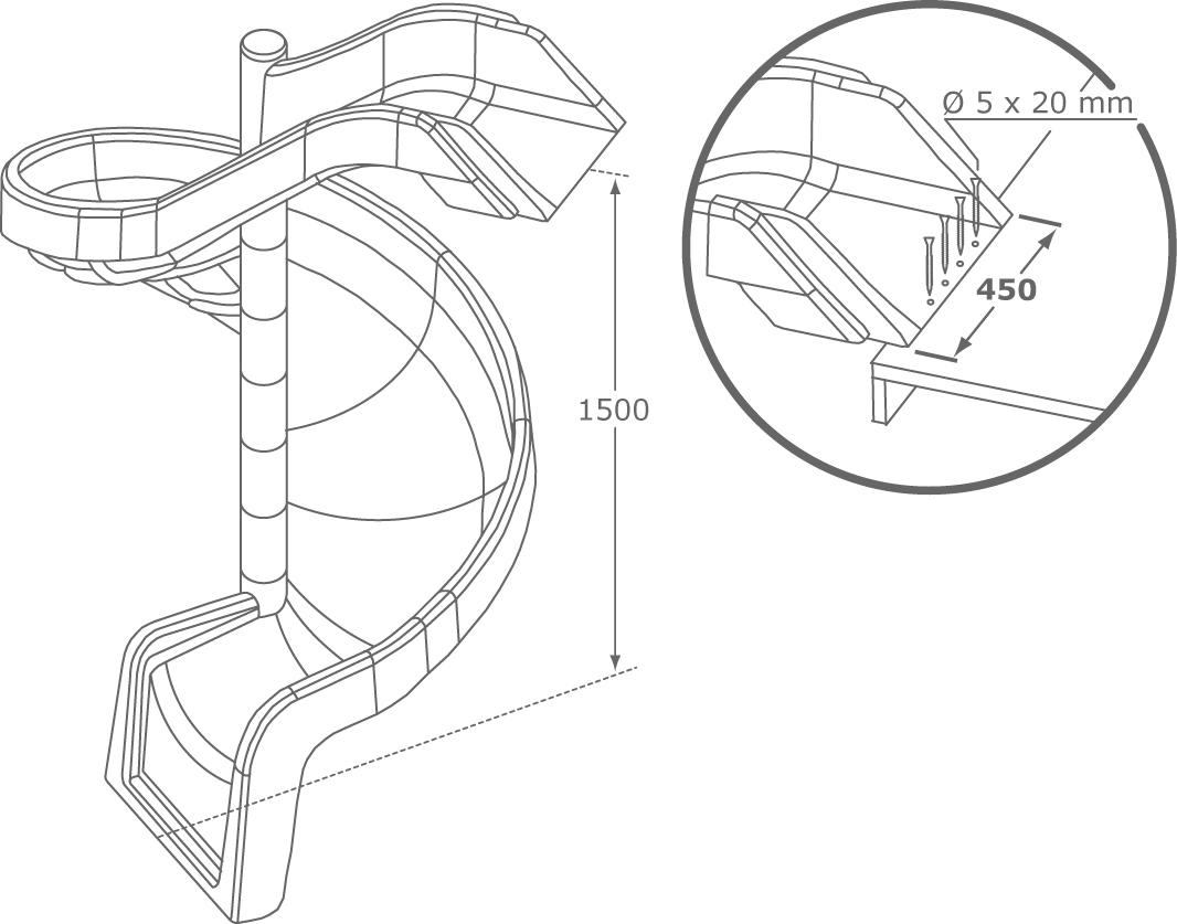 espace particuliers jeux toboggan en spirale etec. Black Bedroom Furniture Sets. Home Design Ideas