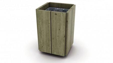 mobilier urbain corbeilles robinier r f e148 corbeille kergu len en robinier poser etec. Black Bedroom Furniture Sets. Home Design Ideas
